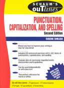 Schaum s Outline of Punctuation  Capitalization   Spelling
