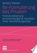 Re-Formulierung des Privaten