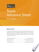 Texas Advance Sheet March 2012