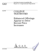 College textbooks enhanced offerings appear to drive recent price increases