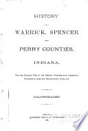 History Of Warrick Spencer And Perry Counties Indiana