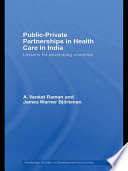 Public Private Partnerships in Health Care in India