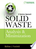 Solid Waste Analysis And Minimization A Systems Approach