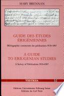 Guide Des Études Érigéniennes