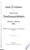 Sammlung von Entscheidungen des K. bayer. Verwaltungsgerichtshofes