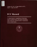Ebook FCC Record Epub United States. Federal Communications Commission Apps Read Mobile