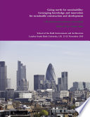 Cib Proceedings 2015 Going North For Sustainability Leveraging Knowledge And Innovation For Sustainable Construction And Development