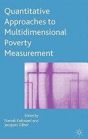 Quantitative Approaches To Multidimensional Poverty Measurement book