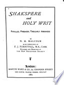 Shakespeare and Holy Writ Book PDF