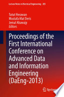 Proceedings of the First International Conference on Advanced Data and Information Engineering  DaEng 2013