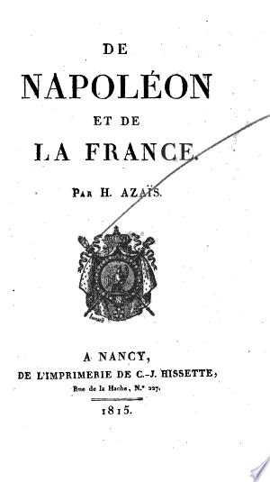 De Napoléon et de la France