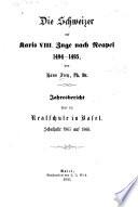Die Schweizar auf Karls VIII, zuge nach Neapel 1494-1495