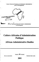 African Administrative Studies