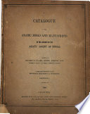 Catalogue of the Arabic Books and Manuscripts in the Library ... Free download PDF and Read online