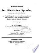Glossarium der friesischen Sprache