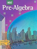 Holt Pre Algebra