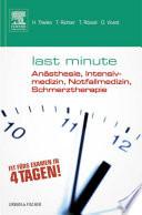 Last Minute An  sthesie  Intensivmedizin  Notfallmedizin  Schmerztherapie