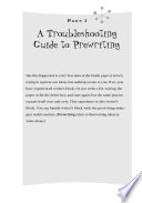 A Troubleshooting Guide for Writers  Strategies and Process