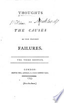 Thoughts on the Causes of the Present Failures   By William Roscoe   The third edition