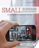 Small Business Management Canadian Edition 6th Ed