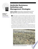 Herbicide Resistance: Definition and Management Strategies