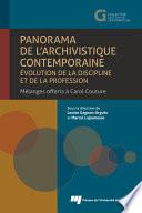 Panorama de l archivistique contemporaine    volution de la discipline et de la profession