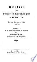Predigt zur Primizfeier des Hochwürdigen Herrn J. B. Müller