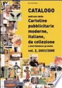 Catalogo unificato delle cartoline pubblicitarie moderne, italiane, da collezione a distribuzione gratuita