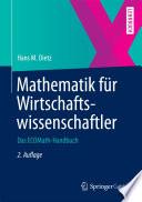 Mathematik f  r Wirtschaftswissenschaftler