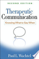 Therapeutic Communication, Second Edition Book Shows Precisely What Therapists