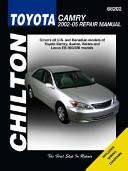 Toyota Camry Repair Manual