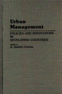 Urban Management: Policies and Innovations in Developing Countries