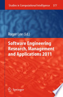 Software Engineering Research Management And Applications 2011