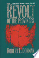 Revolt Of The Provinces : an artistic and intelectual revolt against...