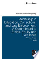 Leadership in Education  Corrections and Law Enforcement
