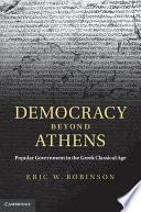 Democracy beyond Athens Book PDF