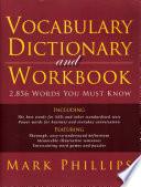 Vocabulary Dictionary And Workbook