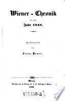 Wiener-Chronik für das Jahr 1848