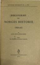 Bibliografi til Norges historie