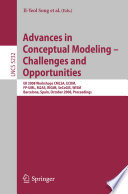 Advances In Conceptual Modeling Challenges And Opportunities