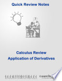 Calculus Quick Review  Applications of Derivatives