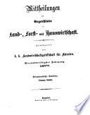 Mitteilungen über Gegenstände der Land-, Forst- und Hauswirtschaft