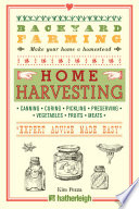 Backyard Farming  Home Harvesting