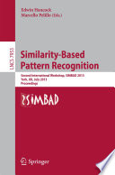 Similarity Based Pattern Recognition