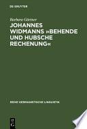 Johannes Widmanns »Behende und hubsche Rechenung«