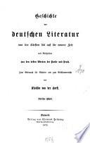 Geschichte der deutschen Literatur von der ältesten bis auf die neuere Zeit
