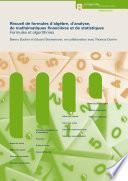 illustration Recueil de formules d'algèbre, d'analyse, de mathématiques financières et de statistiques