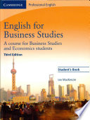 English For Business Studies Student S Book