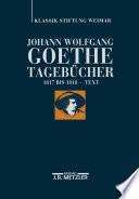 Johann Wolfgang von Goethe: Tagebücher