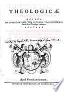 Disputationes theologicae in IV libros sententiarum  quibus ab adversantibus     vindicatur